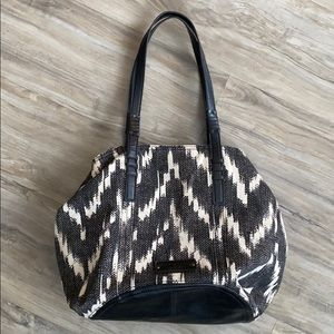 Lucky Brand Aztec Textured Hobo Bag / Tote Bag